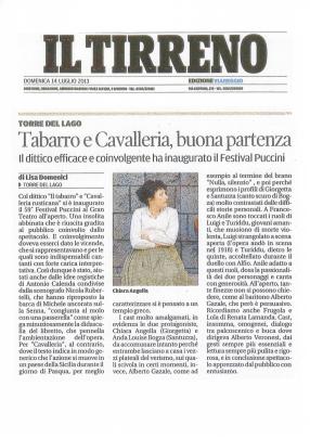 """Il Tirreno - """"Il Tabarro/Cavalleria Rusticana"""""""